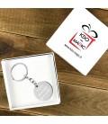 Porte clés rond acier à personnaliser