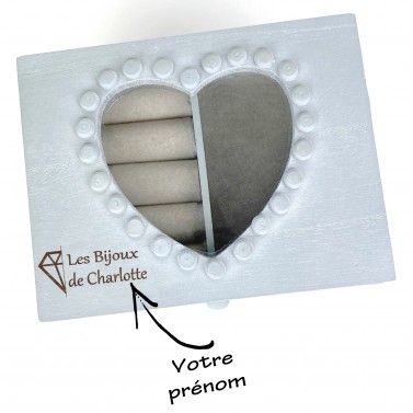 Boite à bijoux petit modèle personnalisée