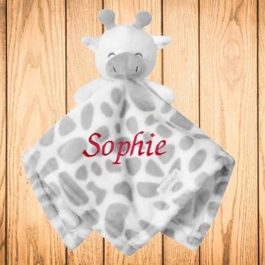 Doudou Girafe avec prénom personnalisé