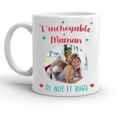 "Mug photo ""Incroyable Maman"""