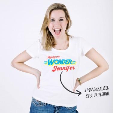 """Tee Shirt à personnaliser """"Wonder Maman"""""""