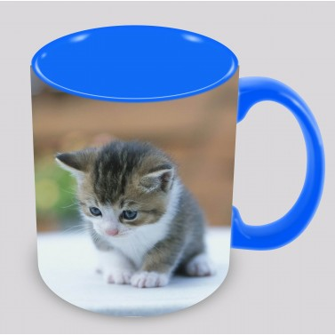 Tasse bleu à personnaliser