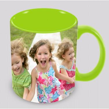 Tasse personnalisée verte