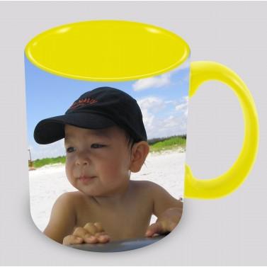 Tasse personnalisée jaune