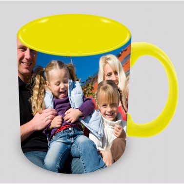 Tasse jaune à personnaliser