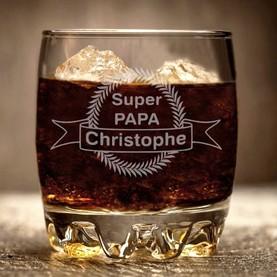 Verre whisky gravé et personnalisé