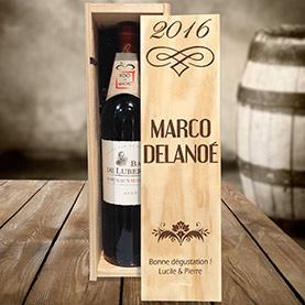 caisse en bois vin personnalisée